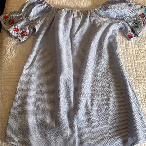 Off shoulder dress or cover up
